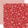 Scrapbooking Paper Echo Park / A Perfect Christmas / Snowflake Swirl