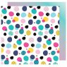 Scrapbooking Paper by American Crafts / Shimelle Glitter Girl / Get Messy