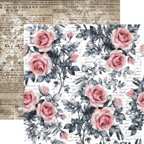 Scrapbooking Paper by 13 Arts / Rosalie / Sweet Roses