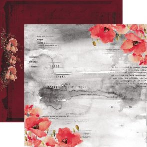 Scrapbooking Paper by 13 Arts / Unforgettable/ Day to Remember