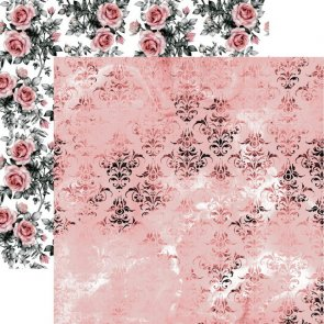 Scrapbooking Paper by 13 Arts / Rosalie / Pink Fields