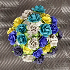 Decorative Paper Flowers by Prima Marketing / Mini Sachet / Bluejay