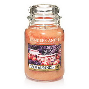 Classic Yankee Candle / velký / Peach and Lavender