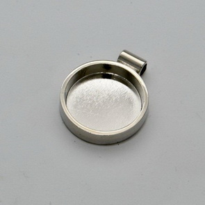 Round Bezel for Pendant / Silver