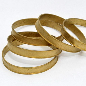 Channel Bracelet Blank III / Brass