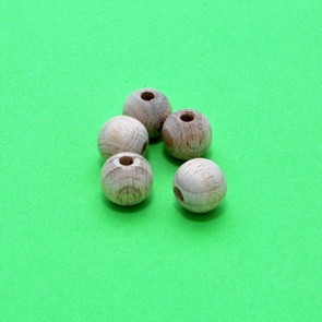 Wooden Beads / 5 pieces / 10 mm