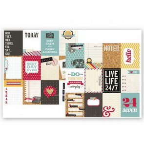 Scrapbookový papír Simple Stories / 3 x 4 / Kolekce 24/7 Journaling Cards
