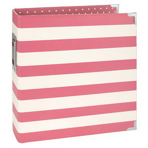 Scrapbookové binder album Simple Stories / 15 x 20 cm / Pink Stripe