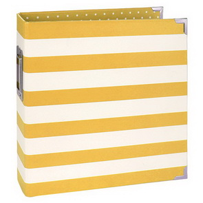 Scrapbookové binder album Simple Stories / 15 x 20 cm / Yellow Stripe