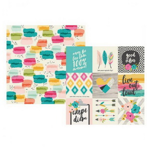 Scrapbooking Paper by Simple Stories / 4 x 4 Good Vibes