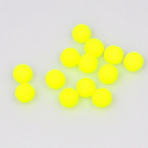 Neon Beads / 50 pieces / 6 mm / Yellow