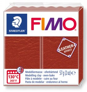FIMO Effect Leather / Rust (749)