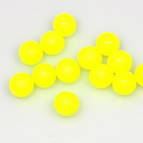 Neon Beads / 50 pieces / 8 mm / Yellow