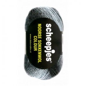 Noorse Wol Colour 100g / 951 Grey