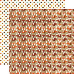 Scrapbooking Paper Echo Park / A Perfect Autumn / Silly Fox