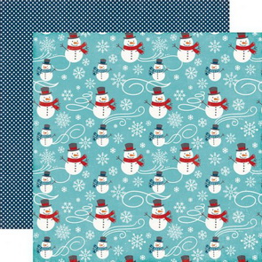 Scrapbookový papír Echo Park / A Perfect Winter / Snowmen Fun
