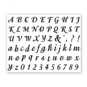 Clear Stamps / Large and Small Alphabet
