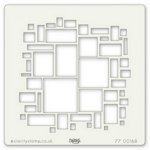 Plastic Stencil by Claritystamp / Abstract Squares