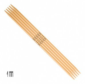 Addi Double-Pointed Needles Bamboo / 4 mm