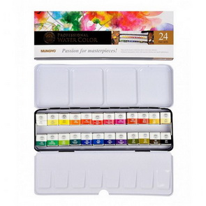 Mungyo Watercolor Paint Set / 24 pc / Half Pan