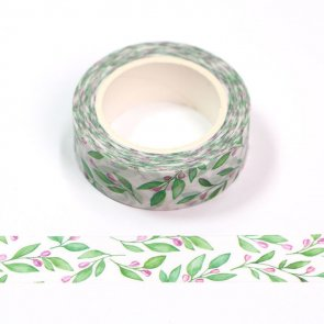 Washi Tape / Watercolour Green Branches