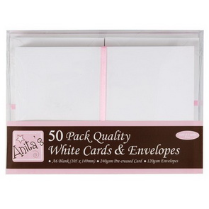 Cards and Envelopes A6 / 50 pieces / White