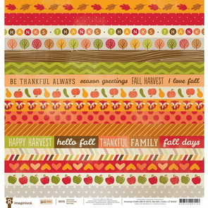Scrapbookový papír American Crafts / Give Thanks / Autumn Love