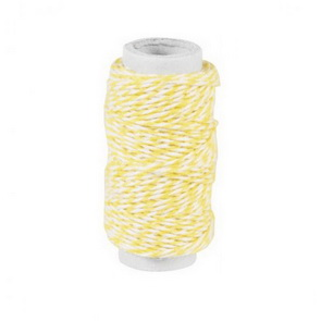 Decorative String / Yellow and White