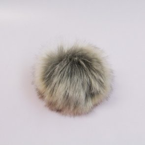 Pompons small / Neutral Beige-Grey Short Hair