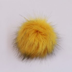 Pompons big / Yellow With Black Tips