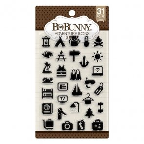 Silicone Stamps Set by BoBunny / Adventure