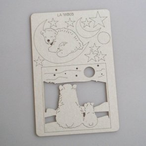 Chipboards LaseroweLove / Arctic Sweetie / Polar Bears and Moon