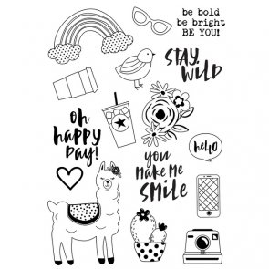 Silicone Stamp by Simple Stories / Oh, Happy Day! / Be You!