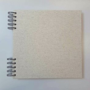 Cardboard Album with Beige Cover / 22 x 22 cm / White Paper