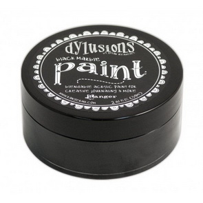 Dylusions Paint / Black Marble