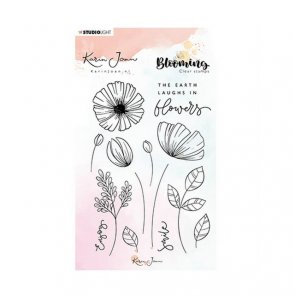 Silicone Stamps Set by Studio Light / Karin Joan / Blooming 02