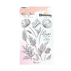 Silicone Stamps Set by Studio Light / Karin Joan / Blooming 04