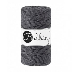 Macrame 3PLY Regular / Bobbiny / Grafit
