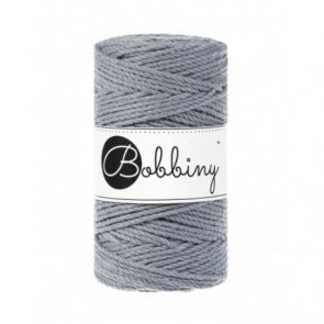 Bobbiny Macrame 3PLY Regular 3mm 400 g / Ocel