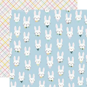 Scrapbooking Paper / Simple Stories / Bunnies and Blooms / Bunny Love
