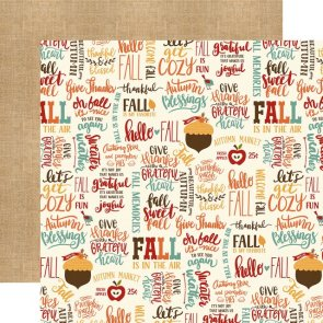 Scrapbookový papír Echo Park / Celebrate Autumn / Fall is Fun