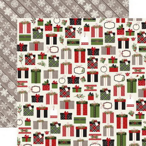 Scrapbooking Paper Carta Bella / Christmas Delivery / Pretty Presents