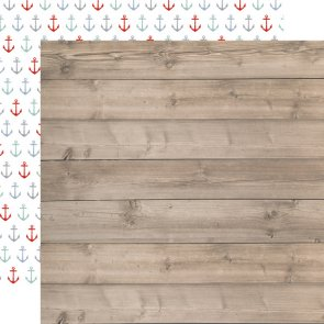 Scrapbooking Paper / Carta Bella / By the Sea / Beach Woodgrain