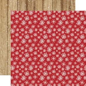 Scrapbooking Paper by Carta Bella / Christmas / Merry Snowflakes