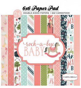 Scrapbooking Paper Pad by Carta Bella / Rock-a-Bye Baby Girl