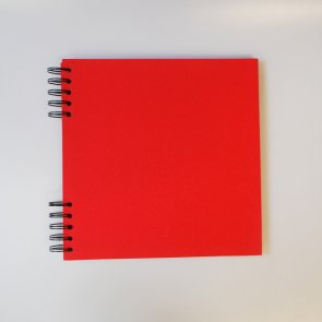 Cardboard Album with Red Cover / 22 x 220cm / Black Pages