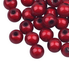 Sparkling Beads / 20 pc / 6 mm / Red