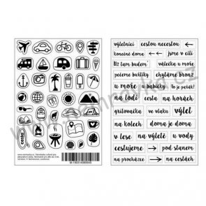 Czech Transparent Stickers by Nemravka / Travelling