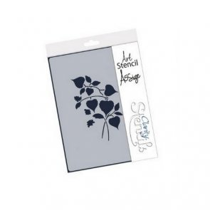 Plastic Stencil by Claritystamp / Chinese Latern Floral Spray