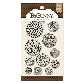 Silicone Stamps Set by BoBunny / Circular Textures